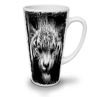 Shadow Ghost Tiger NEW White Tea Coffee Ceramic Latte Mug 17 oz | Wellcoda