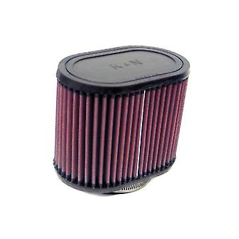 K&N RU-1530 Universal Clamp-On Air Filter: Oval Straight; 2.75 in (70 mm) Flange ID; 5 in (127 mm) Height; 6.25 in x 4 i