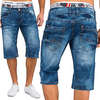Men's Jeans shorts turn up envelope shorts of stretch Denim JoggJeans