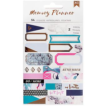 American Crafts Memory Planner Label Stickers-Marble Crush 341216