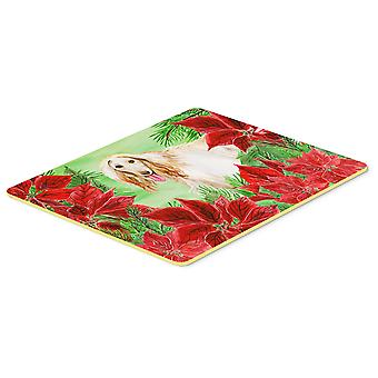 Carolines Treasures  CK1350CMT Afghan Hound Poinsettas Kitchen or Bath Mat 20x30