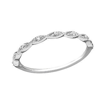 Patterned - 925 Sterling Silver Jewelled Rings - W29240X