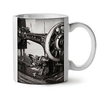Machine Old Funky NEW White Tea Coffee Ceramic Mug 11 oz | Wellcoda