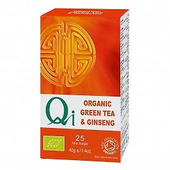 Qi Teas - Organic Green Tea & Ginseng 25 Bag