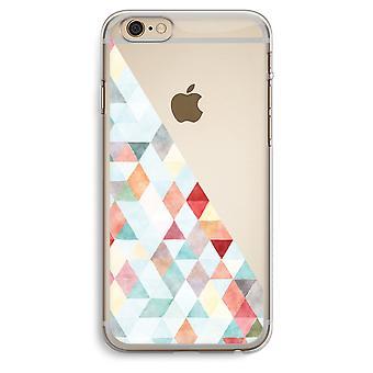 iPhone 6 Plus / 6S Plus Transparent Case (Soft) - Coloured triangles pastel