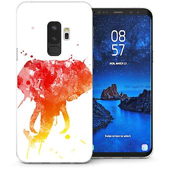 S9 Samsung Galaxy Plus elefante imprime Splash Gel de TPU – blanco