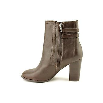 Marc Fisher Womens KATTIE Leather Almond Toe Ankle Fashion Boots