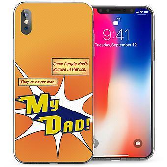 iPhonegeval X vader Heroes TPU Gel - oranje