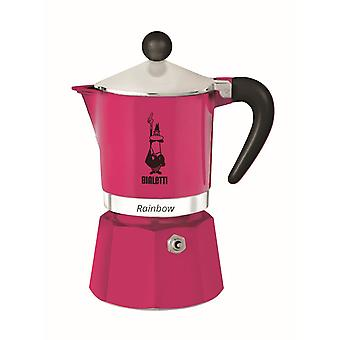 Bialetti Rainbow - Stove Top Espresso Coffee Maker - Fuchsia - Various Sizes