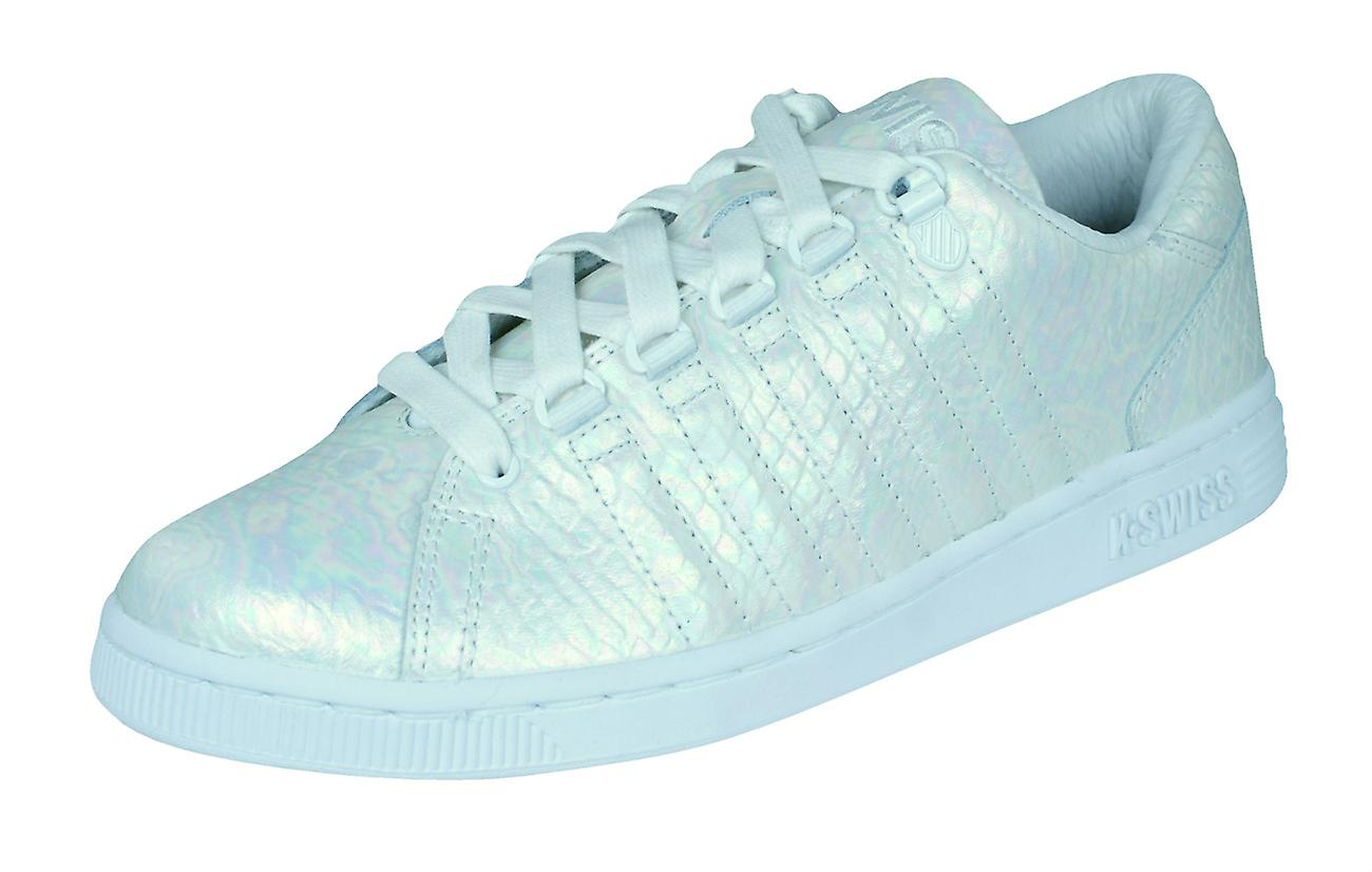 Womens K Swiss Trainers Lozan III TT Reptile Tongue Twister - White