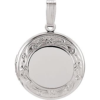 Sterling Silver Round Locket 18.5mm