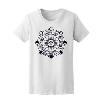 Sun And Moon Phases  Tee Women's -Image by Shutterstock