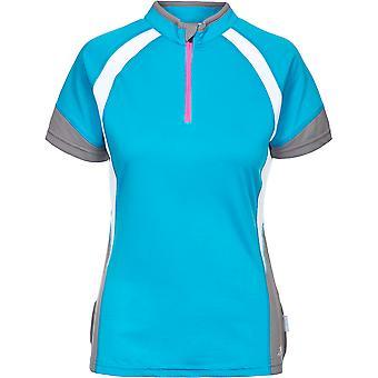 Overtreding Womens/dames Atxaspi Half Zip Wicking snelle droge fietsen Top
