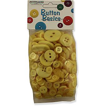 Button Basics Assorted Buttons 5.5oz-Sunshine Yellow BCB-102