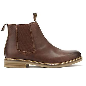 Barbour Mens Brown Farsley Leather Chelsea Boots