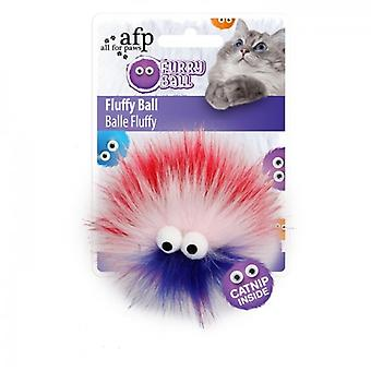 AFP Fluffy Ball Rojo Furry Ball (Cats , Toys , Teaser Wands)