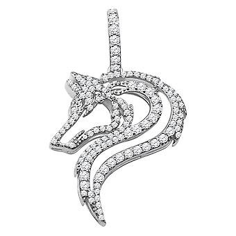 925 Sterling Silber Micro Pave Anhänger - DRAGON