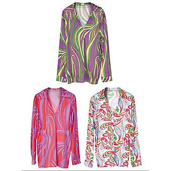FUNKY FEVER SHIRT (WHITE/PINK/PURPLE)