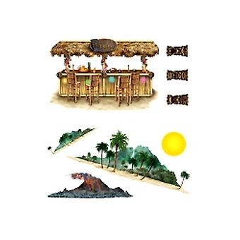 Tiki Bar och Island Props (8 i en förpackning)