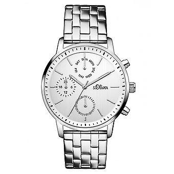 s.Oliver Damen Uhr Armbanduhr Edelstahl SO-3187-MM