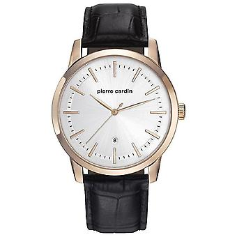 Pierre Cardin mens watch wristwatch ALFORT leather PC901861F02