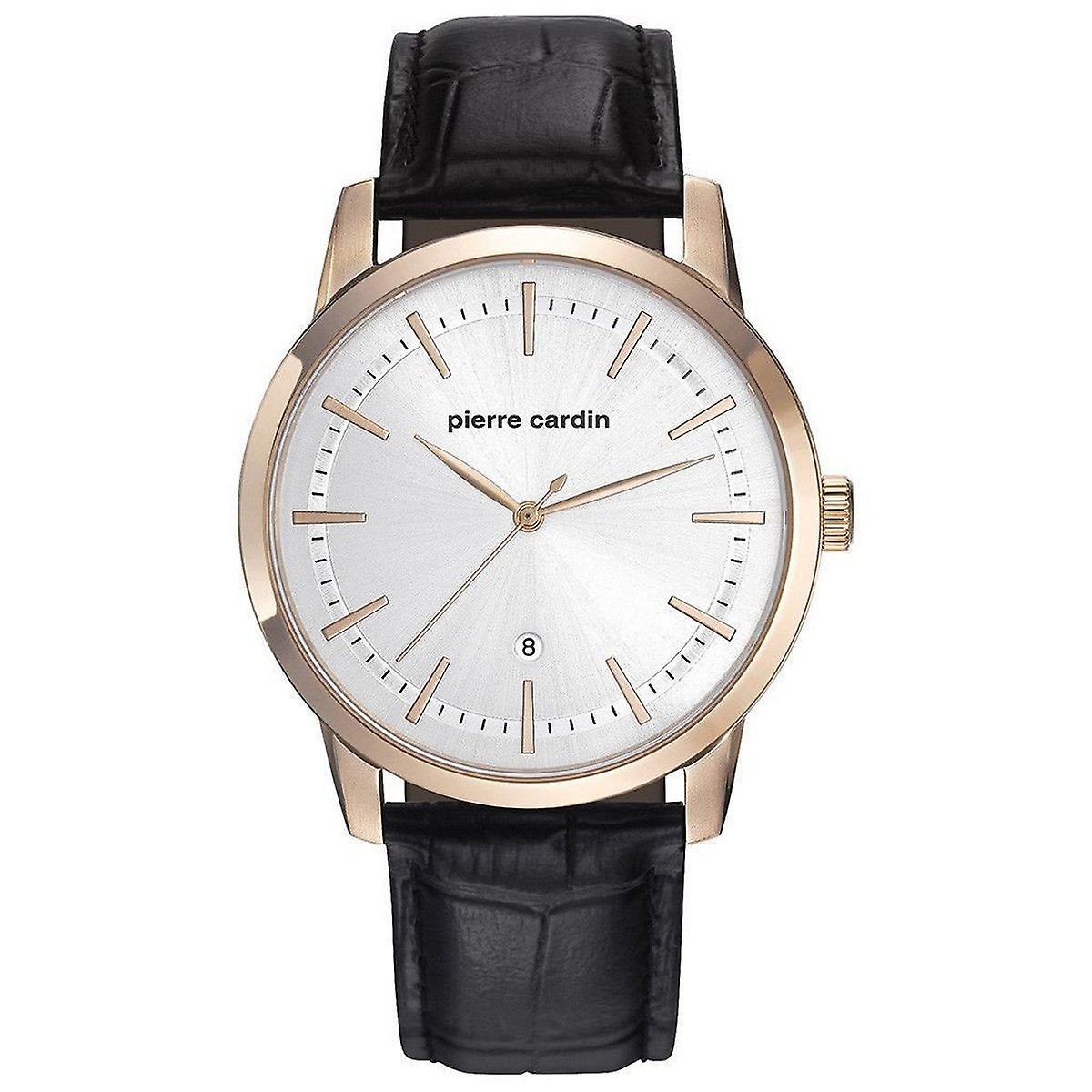 Pierre Cardin Herren Uhr Armbanduhr ALFORT Leder PC901861F02