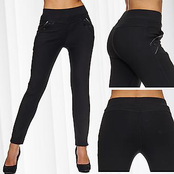 Ladies Stretch Pants Skinny Cloth trousers Leggings Treggings Jeggings Tube Chino