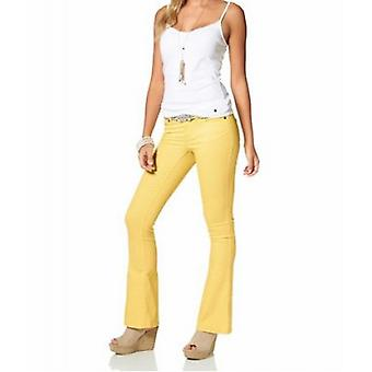 Bootcut jeans, summer trousers, short size ladies yellow AjC