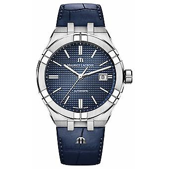 Maurice Lacroix Aikon Automatic Blue Dial Blue Leather AI6008-SS001-430-1 Watch