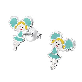 Cheerleader - 925 Sterling Silver Colourful Ear Studs