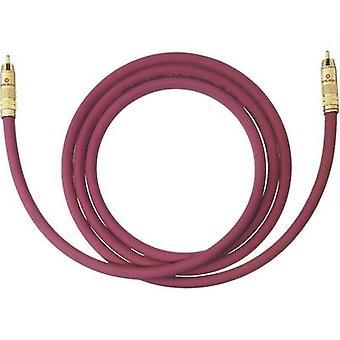 Oehlbach RCA Audio/phono Cable [1x RCA plug (phono) - 1x RCA plug (phono)] 15 m Bordeaux gold plated connectors