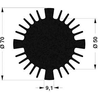 LED heat sink 1.77 C/W (Ø x H) 70 mm x 25 mm Fischer Elektronik SK 570 25 SA