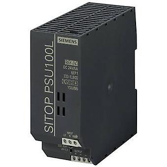 シーメンス SITOP PSU100L 24 V/5 A レール マウント 120 W の電源ユニット (DIN) 24 Vdc 5 × 1