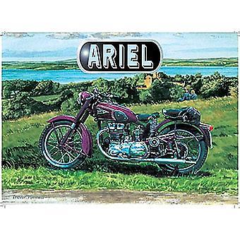 Ariel moto Metal pequeno assinar 200 X 150 Mm