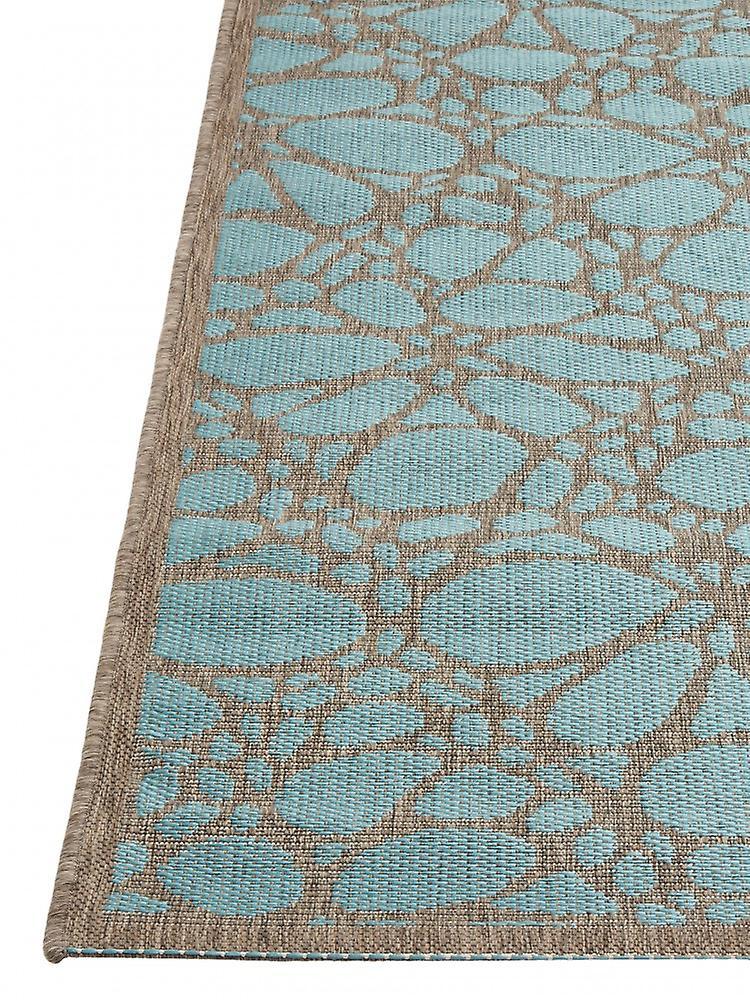 Outdoor-Teppich für Terrasse / Balkon Contemporary Fiore Aqua 160 / 230 cm Teppich Indoor / Outdoor - für drinnen und draussen