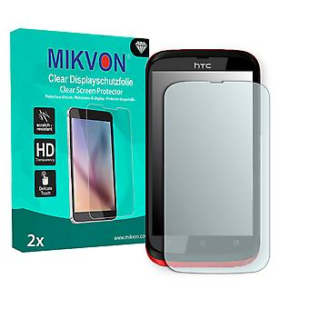 HTC Desire Q Screen Protector - Mikvon Clear (Retail Package with accessories)
