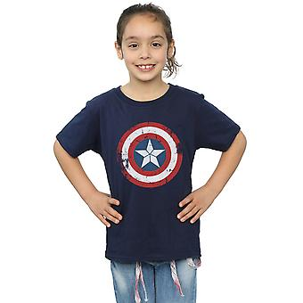 Marvel Girls Captain America Civil War Distressed Shield T-Shirt