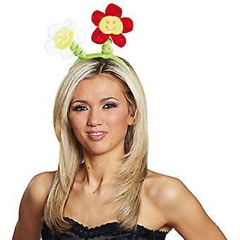 Funny flower white headband