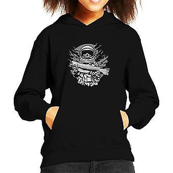 Astronaut Fishing Kid's Hooded Sweatshirt