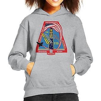NASA STS 119 Space Shuttle Discovery Mission Patch Kid's Hooded Sweatshirt