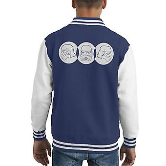 Original Stormtrooper Line Art Trio Kid's Varsity Jacket