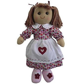 Powell Craft Childrens Fabric Rag Doll in Pretty Floral Dress