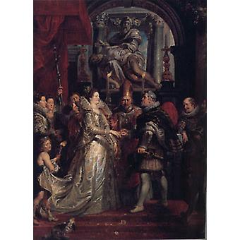 The Wedding of Marie de ' Medici to King Henr, Peter Paul Rubens