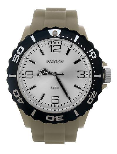 Waooh - Watch White Dial & Bezel STM42 Black