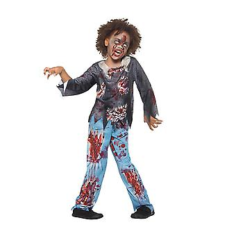 Zombie Child Costume, Halloween Child Fancy Dress, Large Age 10-12