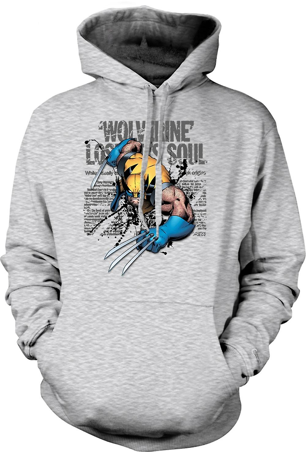 Mens Hoodie - Wolverine - Lost Soul - Comic Hero