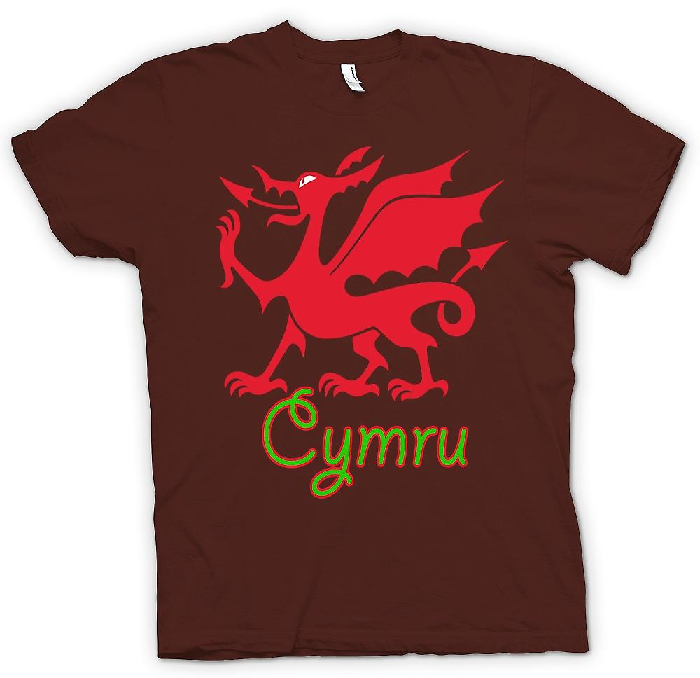 Herr T-shirt - walesisk drake - Cymru