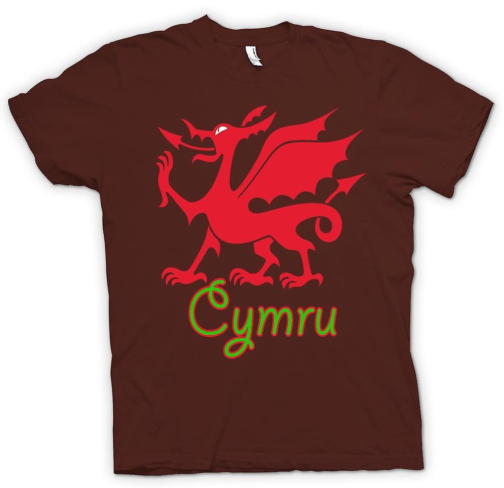 Heren T-shirt - Welsh Dragon - Cymru