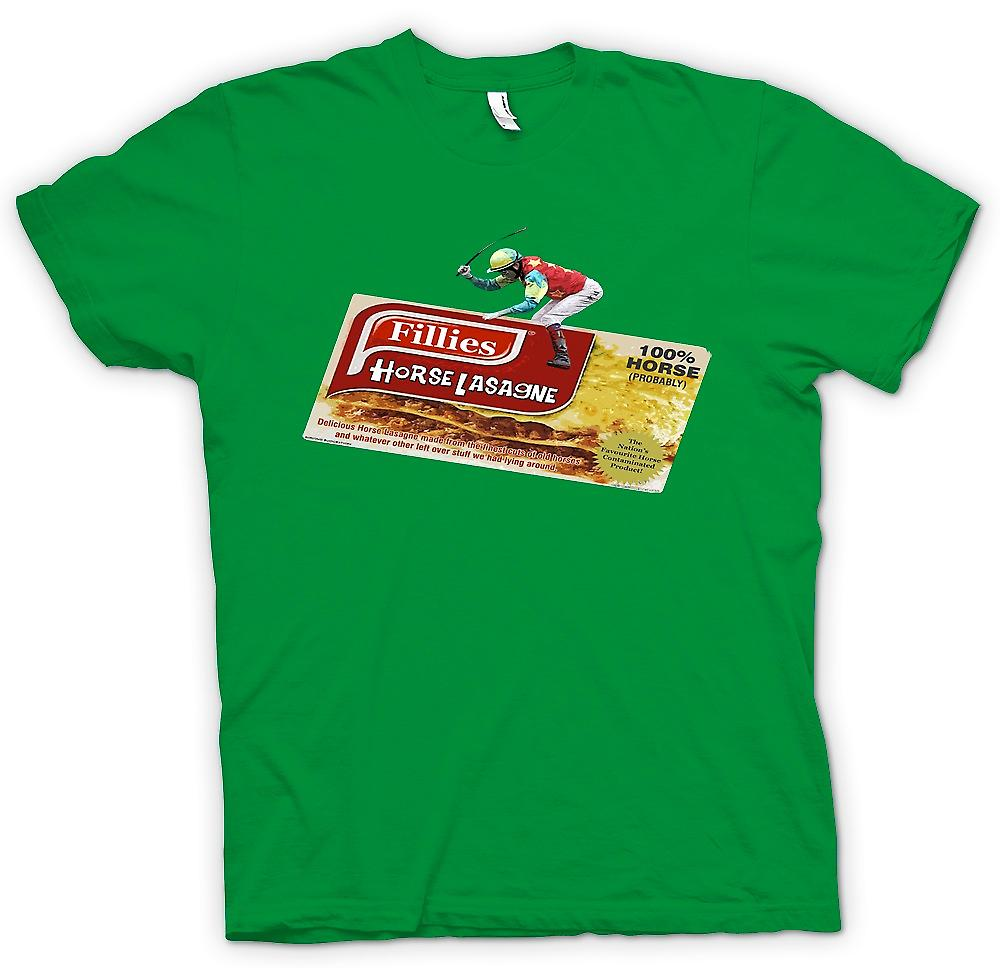 Mens T-shirt - Horse Meat Scandal - Funny Meat Lasagne