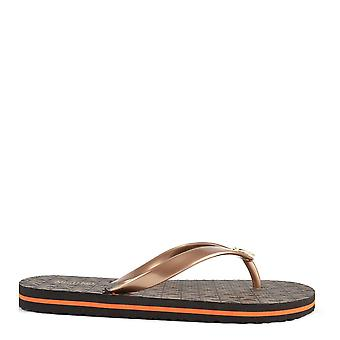 MICHAEL by Michael Kors Mk Logo Brown Flip Flop